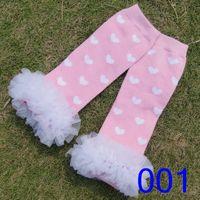 Wholesale TUTU socks baby girl leg warmers dots heart printing socks flower ruffles lace socks leg warmers for kids