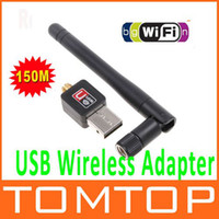 Wholesale Mini M USB WiFi Wireless Network Networking Card LAN Adapter with Antenna Computer Accessories Free Drop Shipping