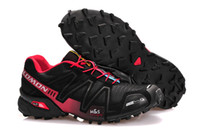Wholesale Trail Running Shoes Salomon Speedcross Footwear Black Red Light Fast and Featuring Salomon Sneakers Hot Sale Sports Shoes on Sale