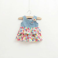 baby girl kids infant toddler flower dress floral dress vest...