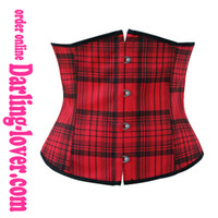 Wholesale Free Shiping Underbust Corsets Size S XXL With Red Lattice Sexy Exclusive New Corsets with G string