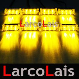 8x3 24 LED Strobe Flash Warning Car Truck Light Lamp Flashing Firemen 8x3LED 24LED 5 colors