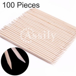 Wholesale X Nail Art Orange Wood Stick Cuticle Pusher Remover