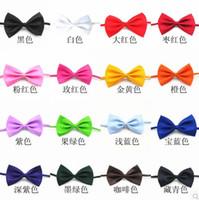 Pure color 77 - men s bowtie fashion chic black bow ties silk bowtie mens neckwear Students Bow tie Random color
