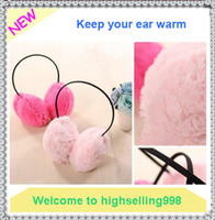 Wholesale 20Pcs Warm Plush Winter Earmuffs Ear Muffs Cute Candy Color Girls Ear Covers for Women Chirstmas Gift