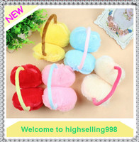 Wholesale Love Heart Shaped Warm Plush Winter Earmuffs Ear Muffs Cute Candy Color Girls Ear Covers for Women Christmas Gift
