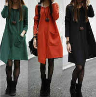 Wholesale Women s fashion autumn winter season Women s clothing Fashion irregular patchwork loose dress