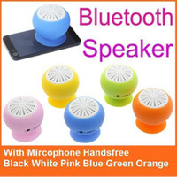 Wholesale Wireless mini Bluetooth Speaker Micro USB Mashroom Cute Portable stereo Stick On Speaker for Smartphones Tablets Colorful DropShipping S108