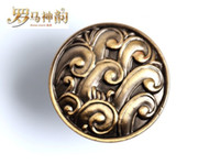 Wholesale Single Hole Antique Bronze Color Cabinet Knob and Furniture Hardware Drawers Pull and Handle