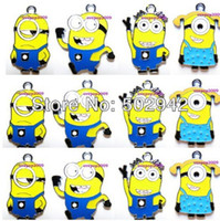 Wholesale cute Despicable Me Minions DIY Assorted Metal Charms Jewellery Pendants