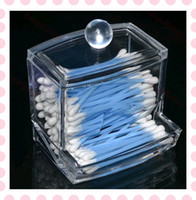 Clear Acrylic  Clear Acrylic Cotton Swab Stick Box Cosmetic Makeup Case Jewelry Storage Holder