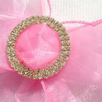 Wholesale 5pcs Wedding Chair Sash Gold Circle A GRADE cm Diamante Buckle