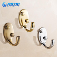 Wholesale Stainless steel clothes hook space aluminum multicolour clothes hook coat single hook bathroom gold antique row hook