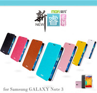 Leather For Samsung For Christmas MOFI phone holster for samsung Galaxy NOTE3 N9000 phone cases