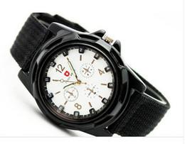 Descuento reloj del ejército suizo deporte militar 2013 venta CALIENTE de Lujo Analógica de la moda nueva DEPORTE de MODA de ESTILO MILITAR RELOJ de PULSERA para HOMBRES del EJÉRCITO SUIZO reloj de cuarzo,NEGRO BLANCO AZUL VERDE