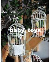 Wholesale Wrought iron bird cage iron flower stand decoration flower pot holder birdbrains lamp