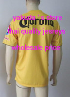 Customized 13- 14 Season Home Yellow Soccer Jerseys New Jerse...