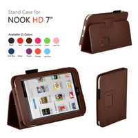 7'' For Apple For Ipad 2/3 PU Leather Case Cover With Stand For Barnes & Noble Nook HD 7 inch Tab 100pcs lot