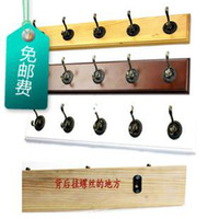Wholesale Fashion wood the plank hangers iron hook door after the hanger wall coat rack clothes hanging