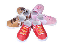 Unisex Winter Cotton 10%off!Autumn new! Khaki, pink,red baby shoes,lattice lacing toddler shoes,soft bottom casual shoes sports shoes baby wear!9pairs 18pcs.ZH