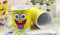 Wholesale 2 pack set of cups of coffee cup ceramic cup gift bone China cups cartoon cup fm044