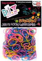 5 to 7 years Boys diy DIY 300-piece Scented Latex-free Rubber Band Bracelet Loom Refill Pack