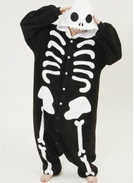 Anime Kigurumi Pajamas Cosplay Costume unisex Onesie Dress skeleton  devil