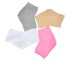 2014 hot sale Free Shipping gel cotton socks Moisture Jel Heel Socks prevent foot heel cracked Foot care