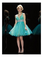 A-Line Organza Modern Sexy Green A Line V Neck Bust Pleats Organza Ruched Beads Corset Homecoming Dress Prom Gown