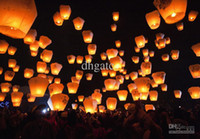 Sky Lantern Holiday Easter Christmas Wholesale - Sky Lanterns,Wishing Lantern fire balloon Chinese Kongming lantern Heart Wishing Lamp Free Shipping