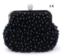 Wholesale women bagsKorean version of the original single export pearl evening bag clutch handbag beaded bag Evening Baghandbag