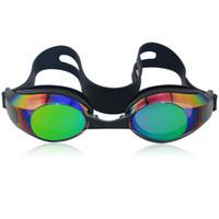 Wholesale colorful silicone adult swim goggles UV