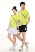 Wholesale Fedex new summer men and women couple sportswear suit tennis clothes fashion badminton sets