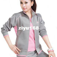 Wholesale South Korea silk long sleeve casual women s badminton sportswear sports suit three piece fashion badminton sets