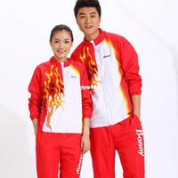 Wholesale badminton clothing suit sport coat long sleeved winter male female models fashion tennis badminton sets