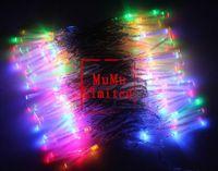 Auto auto optics - mode Colorful m LED Fiber Optic Light String For Christmas Halloween Decoration Garden Party Wedding