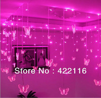 Wholesale m Pink LED STRING Strip Holiday LIGHTS SMDs Butterflies V V PARTY FAIRY CHRISTMAS WEDDING BEDROOM