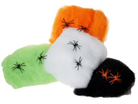 Wholesale Halloween Halloween supplies props haunted house bar supplies cobweb spiders cotton cloth field colors