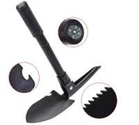Wholesale Hot Sale Mini Multi function Folding Shovel Survival Trowel Dibble Pick Camping Outdoor Tool
