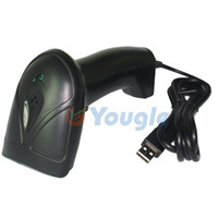 Wholesale NEW Black YG USB Laser POS Barcode Scanner Reader Decoder with USB Cable
