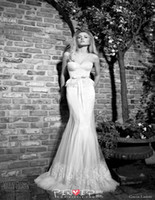 Chapel Autumn/Spring Sexy Simple Design Mermaid Sweetheart Wedding Dresses White Organza Appliques Lace Wedding Gowns Sleeveless Sexy Bridal Dresses Galia Lahav