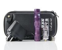 achat en gros de x8 atomiseur nouvelle clearomizer-New ego X6 E -cigarette avec X8 ou V2 réservoir atomiseur Clearomizer Lava Tube kits de cigarettes 1300mAh batterie Vaporisateur tension E- DHL gratuitement