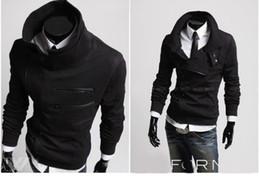 Wholesale 2012 Men s Fashion Slim Top Designed Sexy Hoody Jacket Coat Color Size