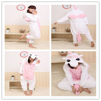 adult unicorn pajamas - New Hot Sale Lovely Cheap Kigurumi Pajamas Anime Unicorn Cosplay Costume Unisex Adult Onesie Pink Dress Sleepwear