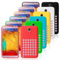 For Samsung For Christmas  Hot Hollow out Polka Soft Silicone case Shockproof Back Cover for Samsung Galaxy NOTE 3 III Note3 N9000 N9005 mixed colors