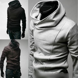 Wholesale Hot Mens Fashion Slim Fit Sexy Top Designed Hoodies Jackets Coats Color Size