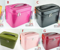 Wholesale New Fashion Women Beauty Case Travel Makeup Large Cosmetic Toiletry Zipper Bag Handbag