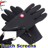 Wholesale man winter sport windstopper waterproof ski Touch Screen gloves black warm riding snowboard Motorcycle gloves