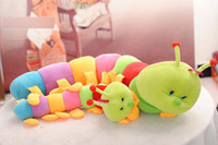 Multicolor caterpillars - baby toys Colorful caterpillars millennium bug doll plush toys large caterpillar hold pillow doll20inch