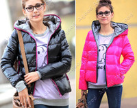 Wholesale New Women s Winter Warm Hoodie Zip Up Down Jacket Coat Outwear Colors